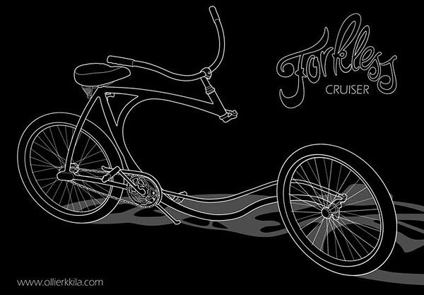 Forkless bike design skech