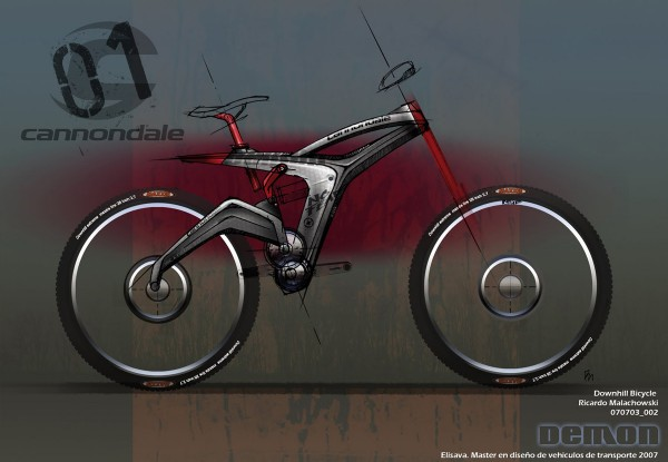 Demon Downhill Bike by Richard Malachowski. Concept for Cannonda
