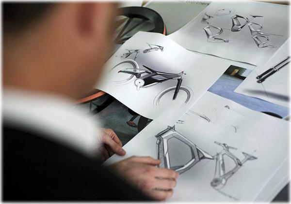Audi E-Bike Concept Sketch by Audi design